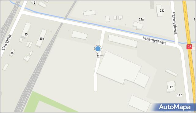 Gorlice, Przemysłowa, 21, mapa Gorlic