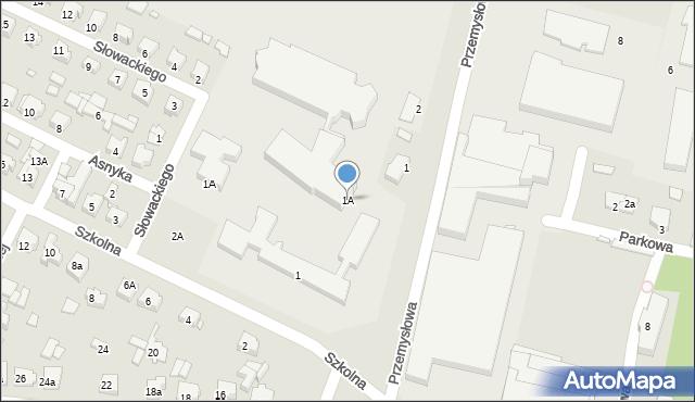 Grabów nad Prosną, Przemysłowa, 1A, mapa Grabów nad Prosną