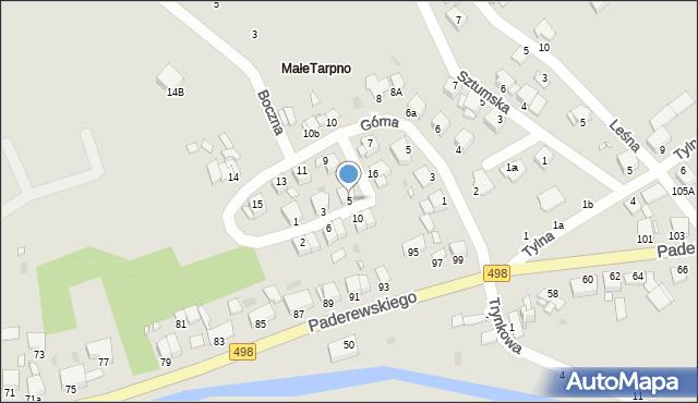 Grudziądz, Przednia, 5, mapa Grudziądza