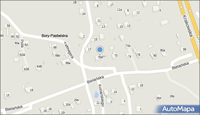 Jaworzno, Przerwy-Tetmajera Kazimierza, 70A, mapa Jaworzno
