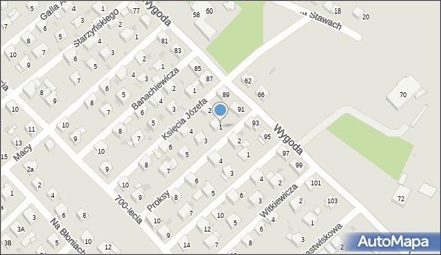 Jaworzno, Proksy Romana, 1, mapa Jaworzno