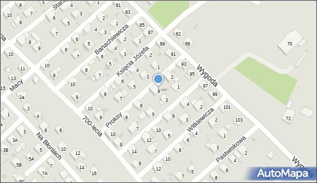 Jaworzno, Proksy Romana, 4, mapa Jaworzno