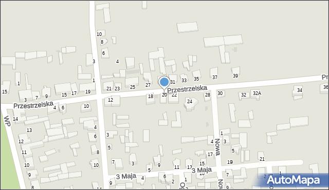 Jedwabne, Przestrzelska, 20, mapa Jedwabne