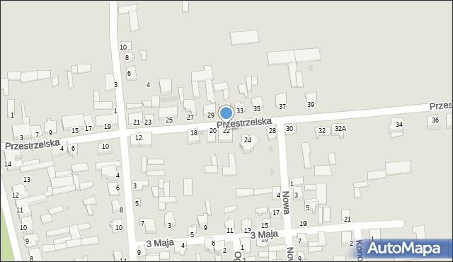 Jedwabne, Przestrzelska, 22, mapa Jedwabne