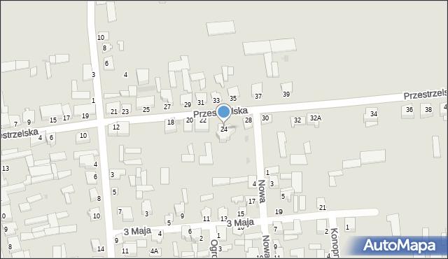 Jedwabne, Przestrzelska, 24, mapa Jedwabne