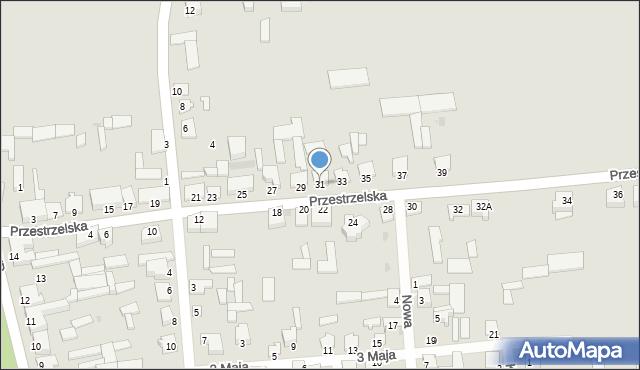 Jedwabne, Przestrzelska, 31, mapa Jedwabne