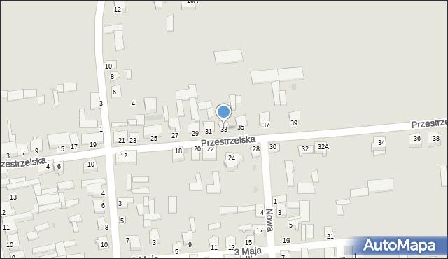 Jedwabne, Przestrzelska, 33, mapa Jedwabne