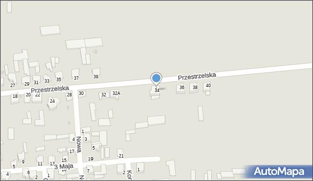 Jedwabne, Przestrzelska, 34, mapa Jedwabne