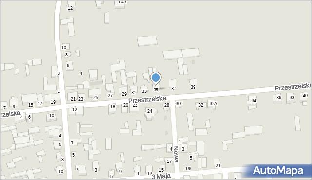 Jedwabne, Przestrzelska, 35, mapa Jedwabne