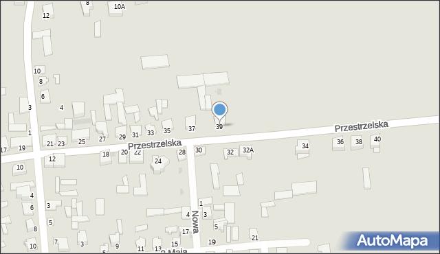 Jedwabne, Przestrzelska, 39, mapa Jedwabne