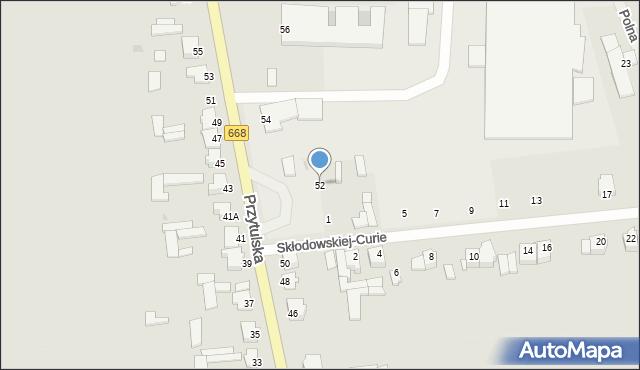 Jedwabne, Przytulska, 52, mapa Jedwabne