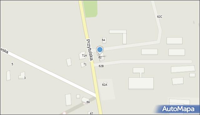 Jedwabne, Przytulska, 62, mapa Jedwabne
