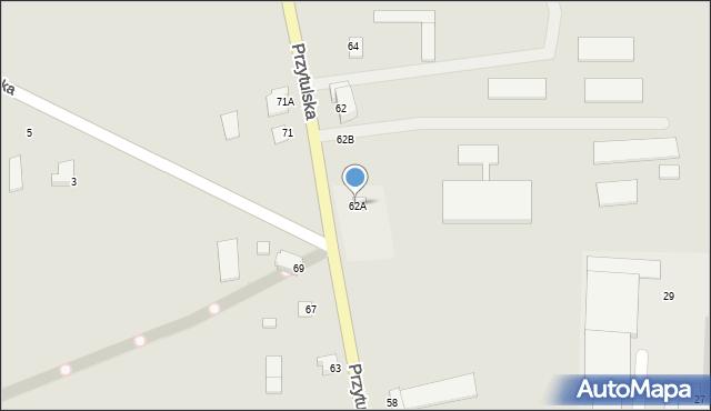 Jedwabne, Przytulska, 62A, mapa Jedwabne