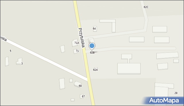 Jedwabne, Przytulska, 62B, mapa Jedwabne