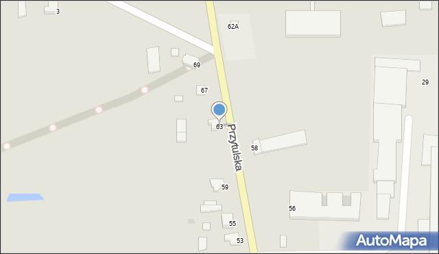Jedwabne, Przytulska, 63, mapa Jedwabne