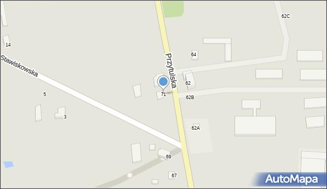 Jedwabne, Przytulska, 71, mapa Jedwabne