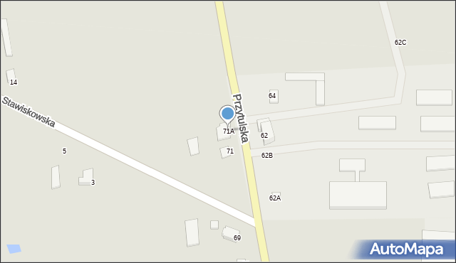 Jedwabne, Przytulska, 71A, mapa Jedwabne