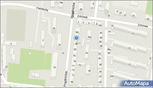 Kraków, Prądnicka, 85, mapa Krakowa