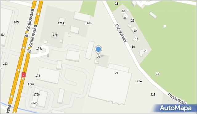 Łazy, Przyszłości, 23, mapa Łazy