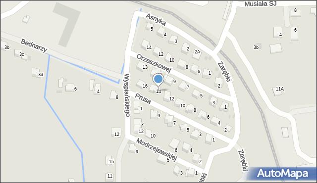 Limanowa, Prusa Bolesława, 14, mapa Limanowa
