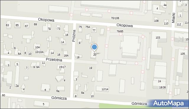 Łódź, Przelotna, 20, mapa Łodzi