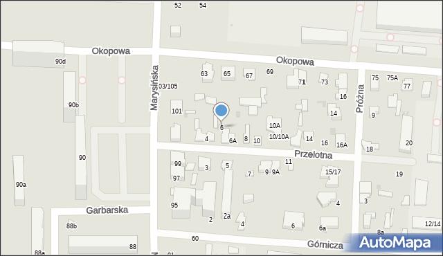 Łódź, Przelotna, 6, mapa Łodzi