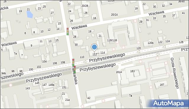 Łódź, Przybyszewskiego Stanisława, 112, mapa Łodzi