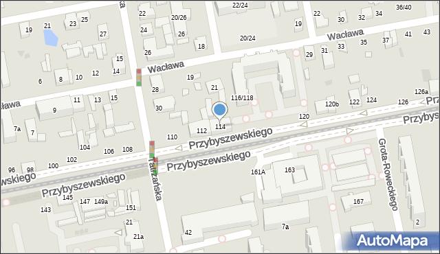 Łódź, Przybyszewskiego Stanisława, 114, mapa Łodzi