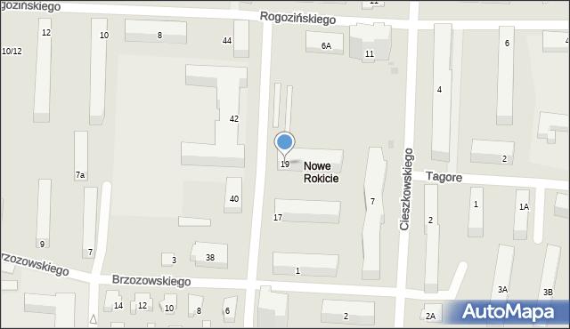 Łódź, Przyszkole, 19, mapa Łodzi