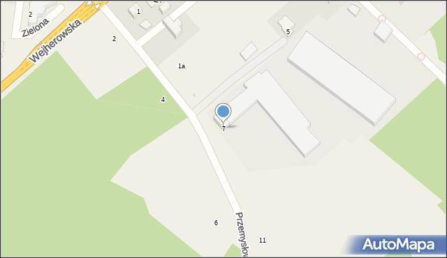 Luzino, Przemysłowa, 7, mapa Luzino