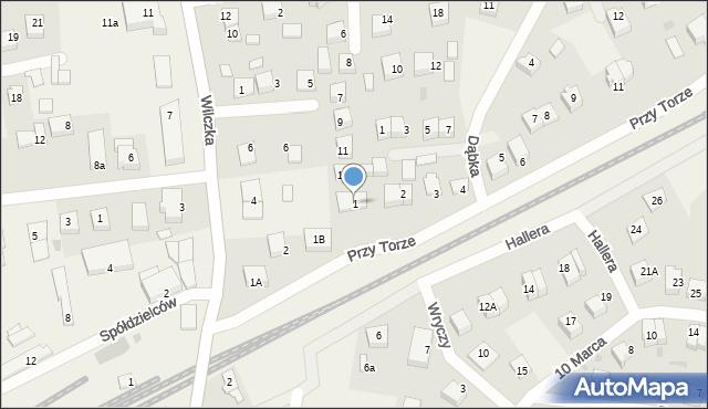 Luzino, Przy Torze, 1, mapa Luzino