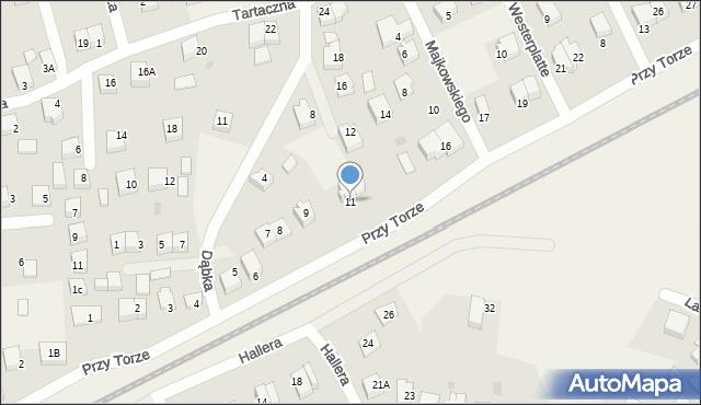 Luzino, Przy Torze, 11, mapa Luzino
