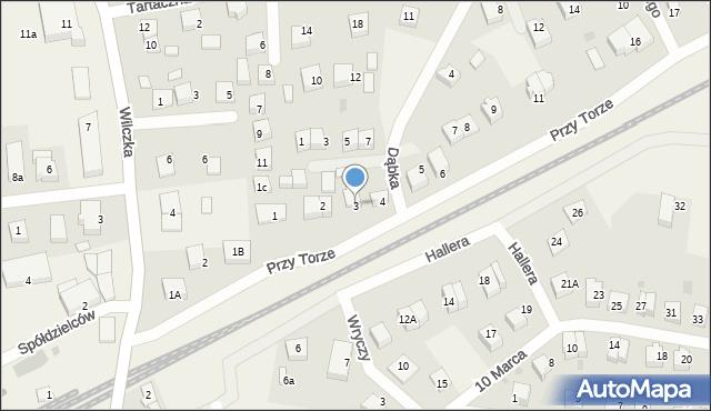 Luzino, Przy Torze, 3, mapa Luzino