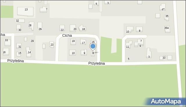 Luzino, Przyleśna, 8, mapa Luzino
