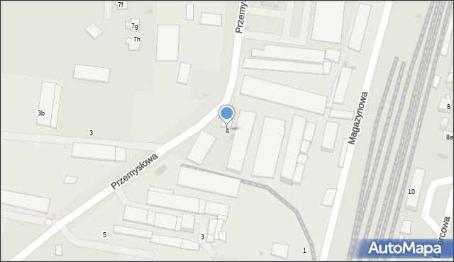 Mogilno, Przemysłowa, 4, mapa Mogilno