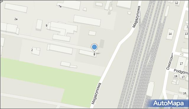 Mogilno, Przemysłowa, 8, mapa Mogilno