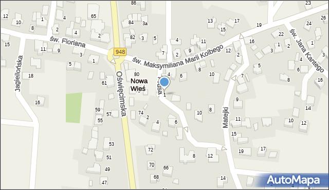 Nowa Wieś, Prusa Bolesława, 1, mapa Nowa Wieś