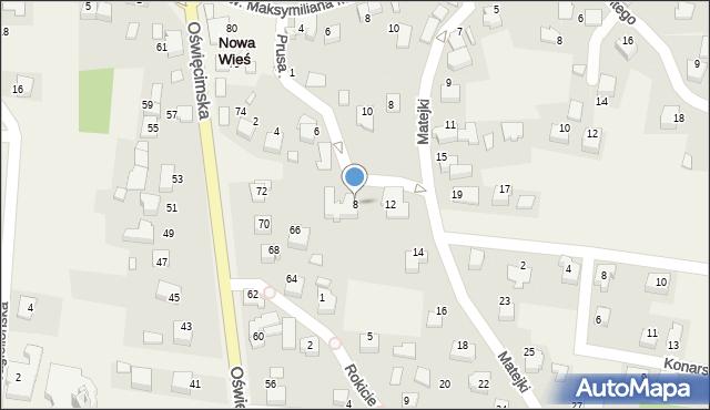 Nowa Wieś, Prusa Bolesława, 8, mapa Nowa Wieś