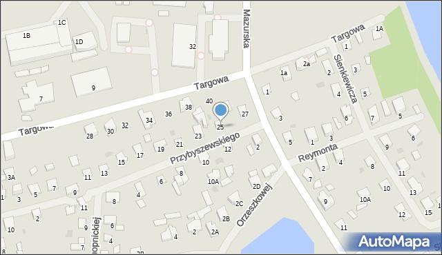 Olecko, Przybyszewskiego, 25, mapa Olecko