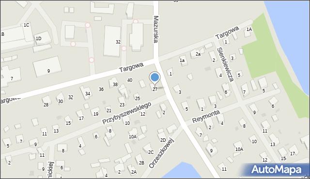 Olecko, Przybyszewskiego, 27, mapa Olecko