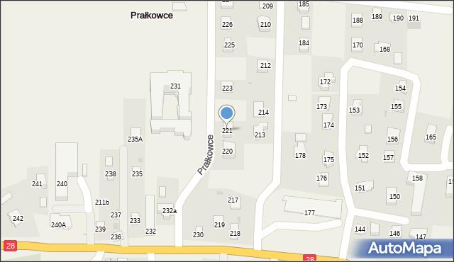 Prałkowce, Prałkowce, 221, mapa Prałkowce