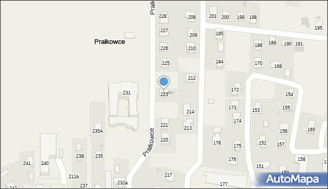 Prałkowce, Prałkowce, 223, mapa Prałkowce