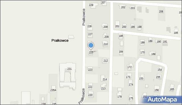 Prałkowce, Prałkowce, 225, mapa Prałkowce