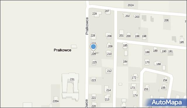 Prałkowce, Prałkowce, 226, mapa Prałkowce