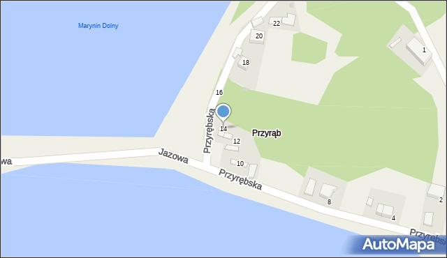 Przeciszów, Przyrębska, 14, mapa Przeciszów