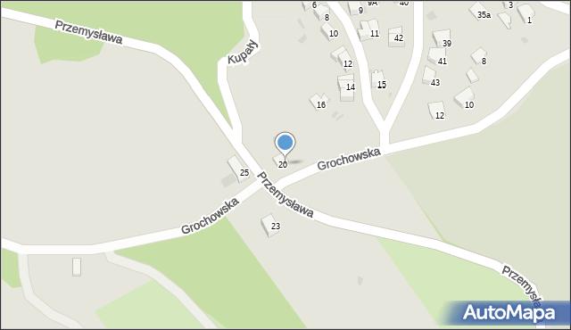 Przemyśl, Przemysława, 20, mapa Przemyśla