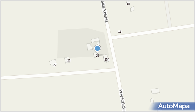 Przeździatka-Kolonia, Przeździatka-Kolonia, 25, mapa Przeździatka-Kolonia