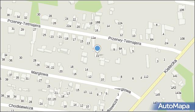 Radom, Przerwy-Tetmajera Kazimierza, 11, mapa Radomia