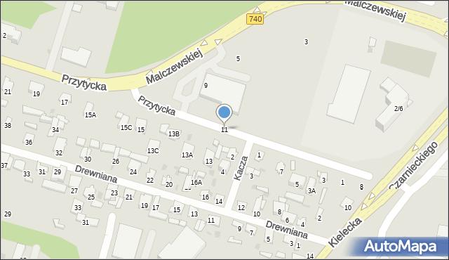 Radom, Przytycka, 11, mapa Radomia