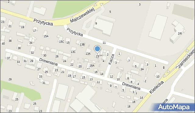 Radom, Przytycka, 13, mapa Radomia